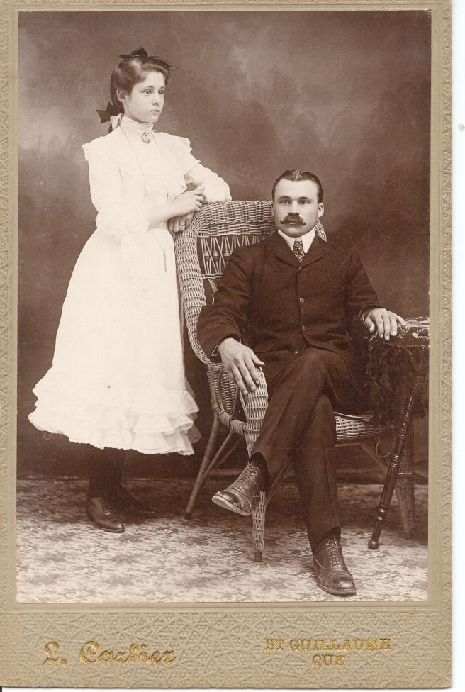 Donat Houle and Lea (Houle) Lessard (brother and sister)