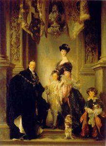 Portrait of the 9th Duke of Marlborough with his family. John Singer Sargent. [Wikimedia Commons]