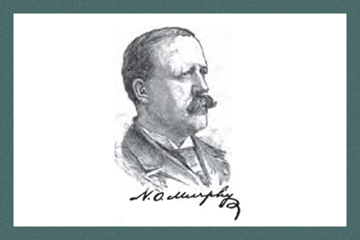 A sketch of Nathan Oakes Murphy Governor of Arizona Territory and Territorial Delegate to the U.S. House of Representatives