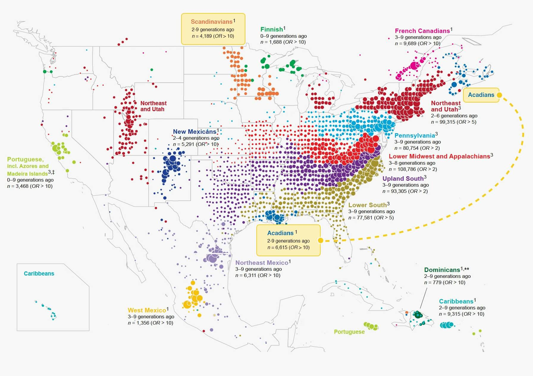Show The Map Of America.What 770 000 Tubes Of Saliva Reveal About America