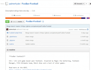 FooBar football project on GitHub.