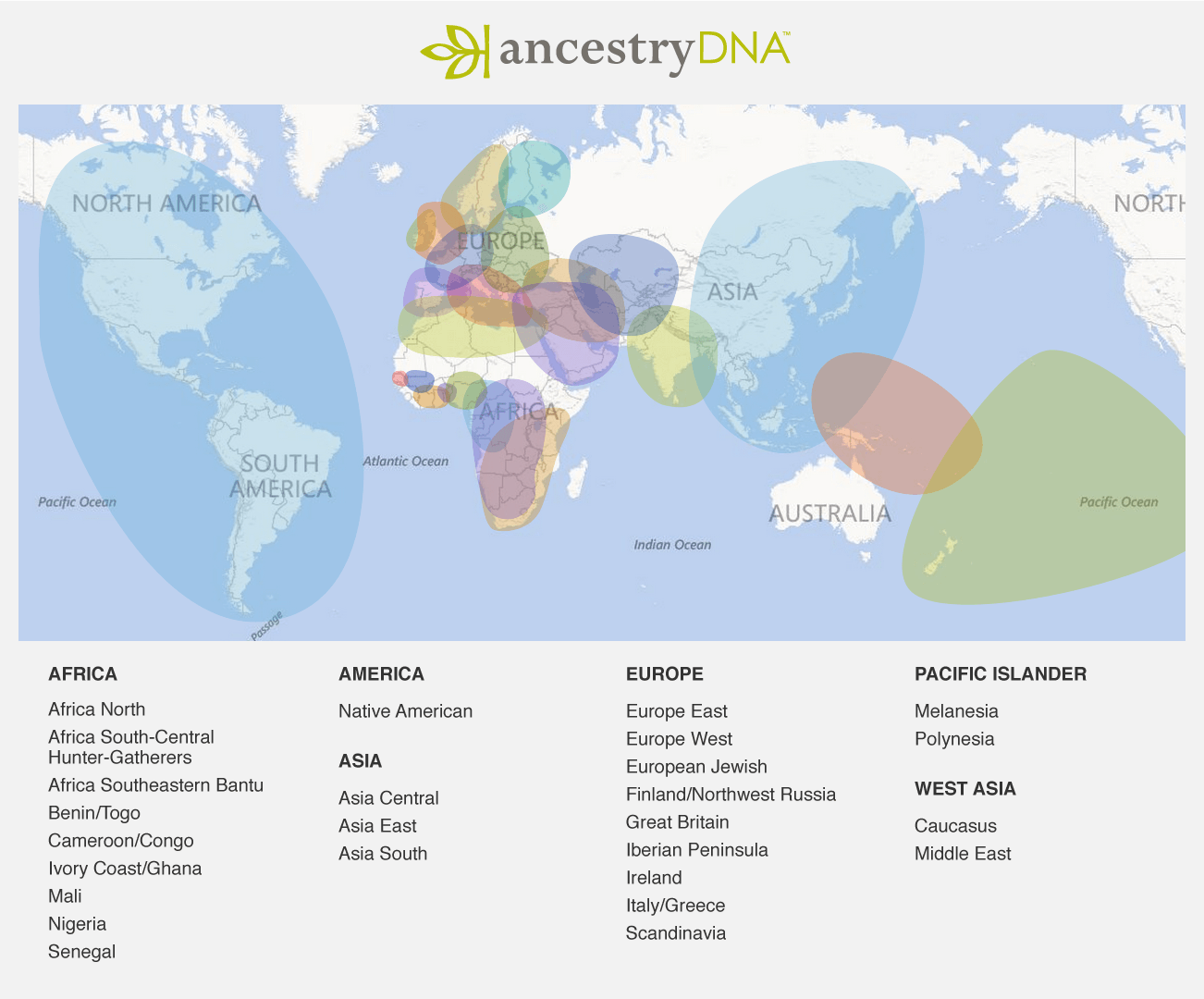 Ancestry Dna Map A Genetic Census of America – Ancestry Blog